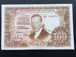 SPAIN P145 100 PESETAS 07.04.1953 AUNC - [ 3] 1936-1975: Regime Van Franco
