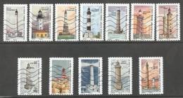 Frankrijk, Yv  Jaar 2019, Reeks Vuurtorens - Phares - Leuchturm - Lighthouses Gestempeld - 2010-.. Matasellados