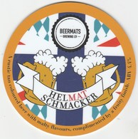 BEERMATS BREWING CO  (NEWARK, ENGLAND) - HELMAT SCHMACKER - PUMP CLIP FRONT - Letreros