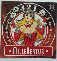 Etiquette Biere Belgique ,Brasserie Millevertus ,Breuvanne , 421 - Bière