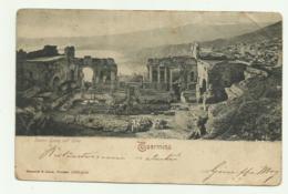 TAORMINA - TEATRO GRECO COLL'ETNA   VIAGGIATA  FP - Messina
