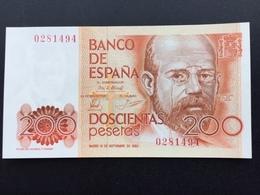 SPAIN P156 200 PESETAS 16.09.1980 UNC - [ 4] 1975-…: Juan Carlos I.