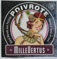 Etiquette Biere Belgique ,Brasserie Millevertus ,Breuvanne , Poivrote - Bière