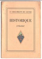 Historique Du 1er Regiment Du Génie - Cataloghi