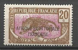 CONGO N° 95 NEUF** LUXE SANS CHARNIERE /MNH - Congo Français (1891-1960)