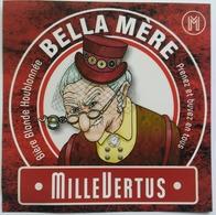Etiquette Biere Belgique ,Brasserie Millevertus ,Breuvanne , Belle Mere - Bière
