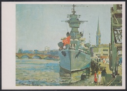 4-638 RUSSIA 1986 POSTCARD Mint NAVY NAVAL SHIP BATEAU MILITARY MILITARIA BATTLE Bordeaux France Port TRANSPORT USSR - Warships
