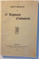 Historique Du 14° Regiment D'infanterie - France