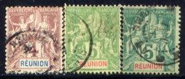 REUNION IS., NO.'S 36-38 . - Isola Di Rèunion (1852-1975)