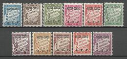 CONGO TAXE N° 1 à 11 NEUF* LEGERE TRACE DE CHARNIERE / MH - Französisch-Kongo (1891-1960)