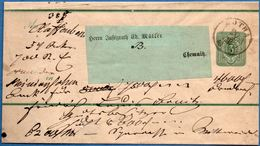 Gotha Zweikreis Stempel 3 Pfg Streifband 1885,  Germany - 1912.2856 - Duitsland