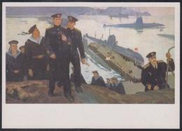 4-638 RUSSIA 1986 POSTCARD Mint NAVY NAVAL MILITARY MILITARIA Base SUBMARINE SOUS MARIN U BOOT SAILOR UNIFORM USSR - Submarines