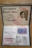 CARTE D'IDENTITE TIMBRE FISCAL TAVERNY 1943 - Historische Dokumente