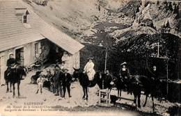 38 - Massif De La Grande Chartreuse - Bergerie De Bovinant - Touristes (animée 1921, Timbres Taxe) - Chartreuse