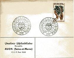 PARIS 1960 FOIRE DE PARIS PHILATELIE Commerce Timbre Philatélie Vente Collection - Marcophilie (Lettres)