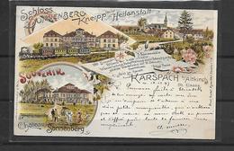 68 SONNENBERG GRUSS AUS CARSPACH 1897 - France