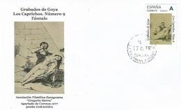 "SPAIN. COVER GOYA ENGRAVING. CAPRICHOS 9. ""TU SELLO"" - 1931-Hoy: 2ª República - ... Juan Carlos I"