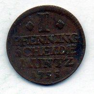 GERMAN STATES - BRUNSWICK-LUNEBURG-CALENBERG-HANNOVER, 1 Pfennig, Copper, Year 1755, KM #215.2 - [ 1] …-1871 : Duitse Staten