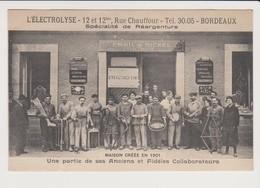 BORDEAUX  (Gironde)  L'ELECTROLYSE (Spécialité De Réargenture) - Bordeaux