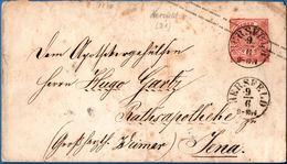 Hersfeld Einkreis Rundstempel Auf 10 Pfg NPD Umschlag, Nach Jena, Germany - 1912.2860 - Duitsland