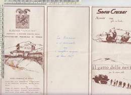 DEPLIANT ALBERGO CANAPINE NORCIA PERUGIA 1967 - Dépliants Touristiques