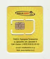 TAJIKISTAN Babilon - Mobile GSM SIM MINT - Tadschikistan