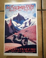 GUIDE TOURISTIQUE AUTOCARS P.L.M. ROUTE DES ALPES REPELLIN TRAFFORT GRENOBLE HORAIRE CHAMONIX MONT-BLANC VERCORS ANNECY - Dépliants Turistici