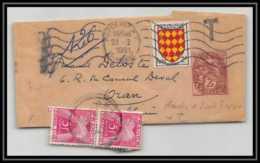 0721 France Entier Postal Stationery Type Blanc 2C Type C + Complement UTILISATION TARDIVE 1961 Taxe 10F - Biglietto Postale
