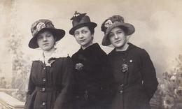 AK Foto 3 Frauen Mit Hut Und Schleier - Ca. 1910/20 (46034) - Mode