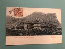 PALERMO LA VILLA BELMONTE COL MONTE PELLEGRINO - Palermo
