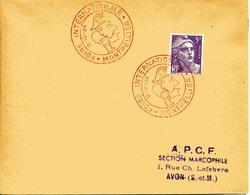 MONTPELLIER 1954 FOIRE INTERNATIONALE Mercure Commerce Vente Dieu Du Commerce CACHET ROUGE - Bolli Commemorativi