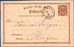 Mainz-Bahnh 1874, Postkarte P1 Nach Bingen, Germany - 1912.2861 - Duitsland