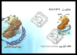 Egypt - 2002 - FDC - ( World Post Day ) - MNH** - Cartas