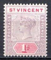 SAINT VINCENT - (Colonie Britannique) - 1899 - N° 47 - 1 P. Violet-brun Et Carmin - (Victoria) - St.Vincent (...-1979)