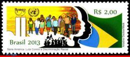 Ref. BR-3240 BRAZIL 2013 AGAINST RACISM, FIGHT AGAINST RACIAL, DISCRIMINATION, UPAEP, UN, FLAG, MNH 1V Sc# 3240 - Brazilië
