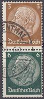DEUTSCHES REICH - Due Valori Usati Se-tenant Michel S151. - Zusammendrucke