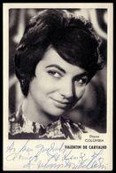 Cantora / Artista MARIA JOSE VALERIO. Postal  Com Assinatura / Autografo Signed / Autographe. Vintage Postcard PORTUGAL - Lisboa