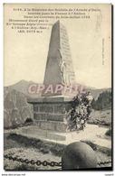 CPA Histoire Napoleon 1er A La Memoire Des Soldats De L&#39Armee D&#39Italie - History