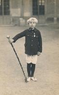 Photo-carte Jeune Garçon Troyes Tambour Major Identifié François Arbona Médaille - Identified Persons
