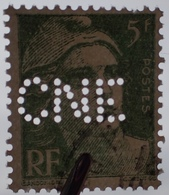 """R1949/1640 - 1948 - TYPE MARIANNE DE GANDON - N°809 ☉ Perforé """" CNE """" - Francia"""