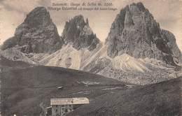 """0858  """"DOLOMITI-GIOGO DI SELLA ALBERGO VALENTINI COL GRUPPO DEL SASSO LUNGO"""" CART  ORIG - Italia"""