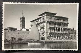 Rab/Jugoslawien Gestempelt Hotel Bristol Segelschiff Fotokarte - Yugoslavia
