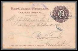 3649/ Mexique (Mexico) Entier Stationery Carte Postale (postcard) N°120 1916 Overprint - Mexico