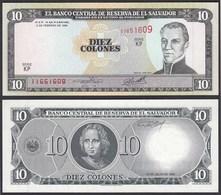 EL SALVADOR - 10 COLONES 1996 Pick 144 UNC (1)  (23874 - Bankbiljetten