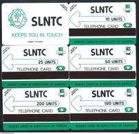 SIERRA LEONE Black Logo SLNTC 10+25+50+100+200 Verso URMET 5 Cards MINT Neuve Afrique (BG1216 - Sierra Leone