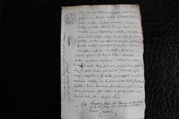 D-N / T1 /  Acte Notarié Sur Parchemin, Testament - Enregistré A Hirson Octobre 1806 - Manuscrits