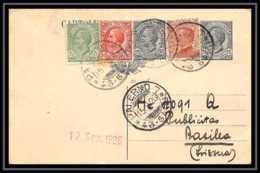 4639 Palermo 1926 Bel Affranchissement Composé Carte Postale Italie (italy) Entier Postal Stationery - 1900-44 Vittorio Emanuele III