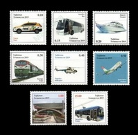 Tajikistan 2019 Mih. 854/61 Transport. Car. Bus. Boat. Train. Helicopter. Plane. Trolley Bus MNH ** - Tadjikistan