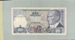Billet De Banque 1000 Livres De Turquie .Bin Turk Lirasi .1970 DEC 2019 Gerar - Turkije