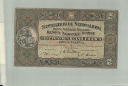 Billet De Banque SUISSE 5 FRANCS  1976     DEC 2019 Gerar - Schweiz